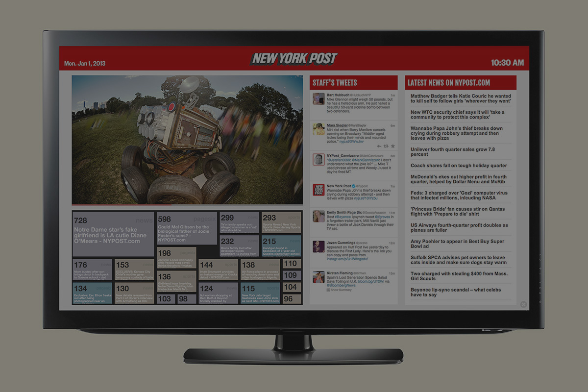 TV Dashboards Design and Development