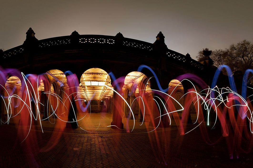 360 panorama: Central Park light painting