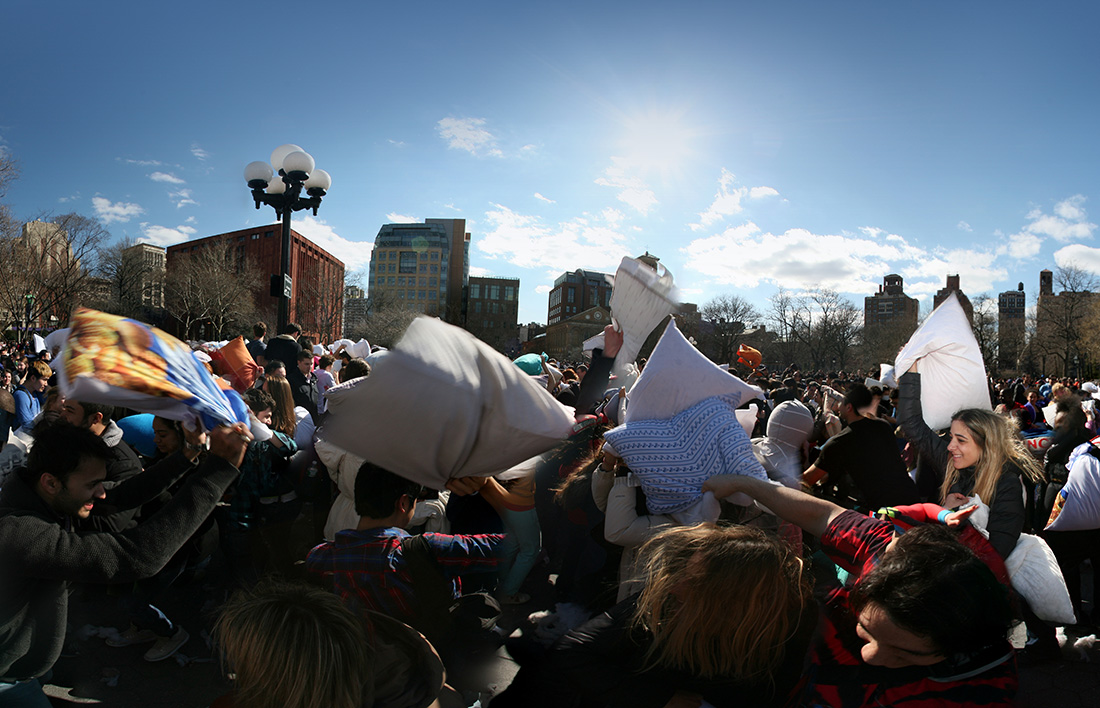 Pillow Fight New York City 2014