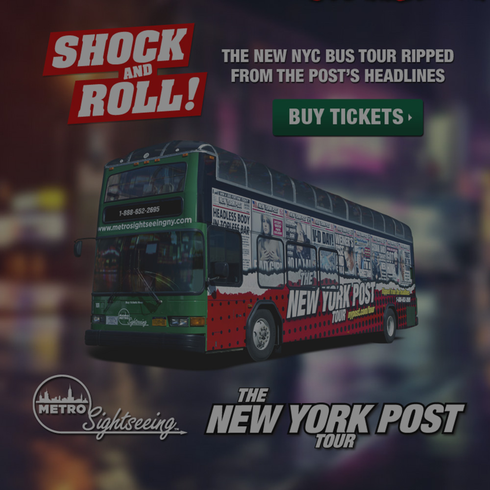 Web Design, Development and Promo Design for New York Post Bus Tour